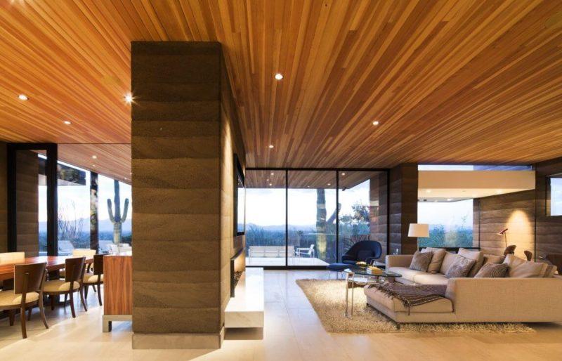 дерево - материал для подвесных потолков