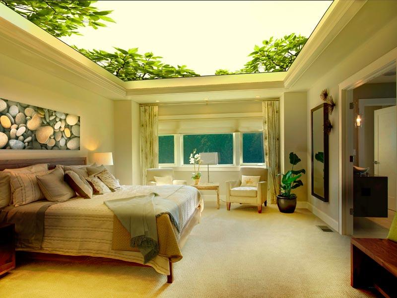 дизайнерские решения: одноуровневые подвесные потолки