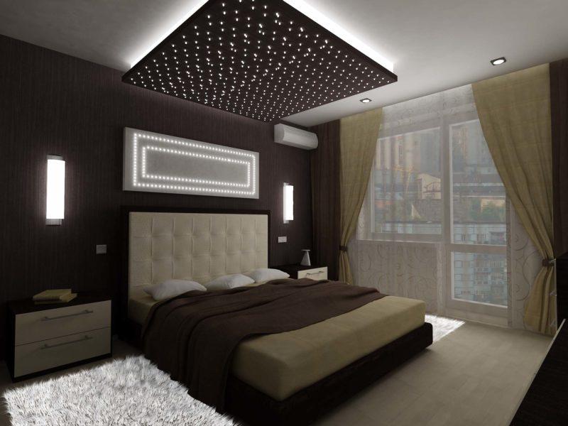 Материалы при декорировании спальни