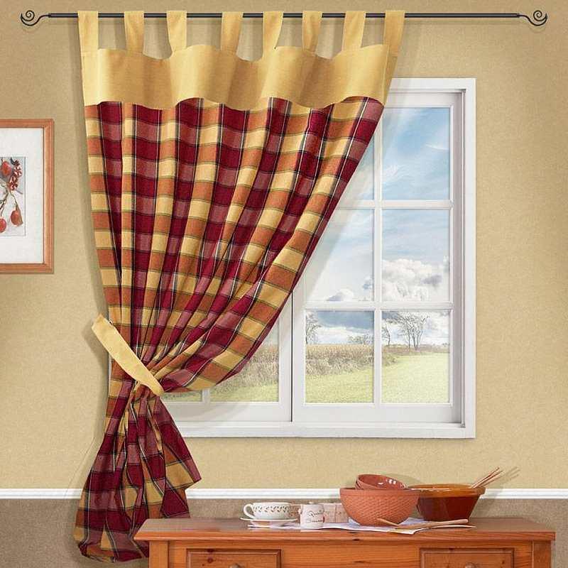 шьем штору для кухни своими руками