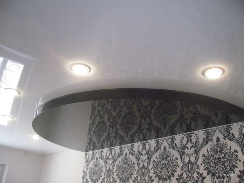 как сделать двухуровневый подвесной потолок