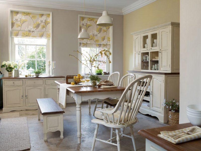 Дизайн интерьера: римские шторы
