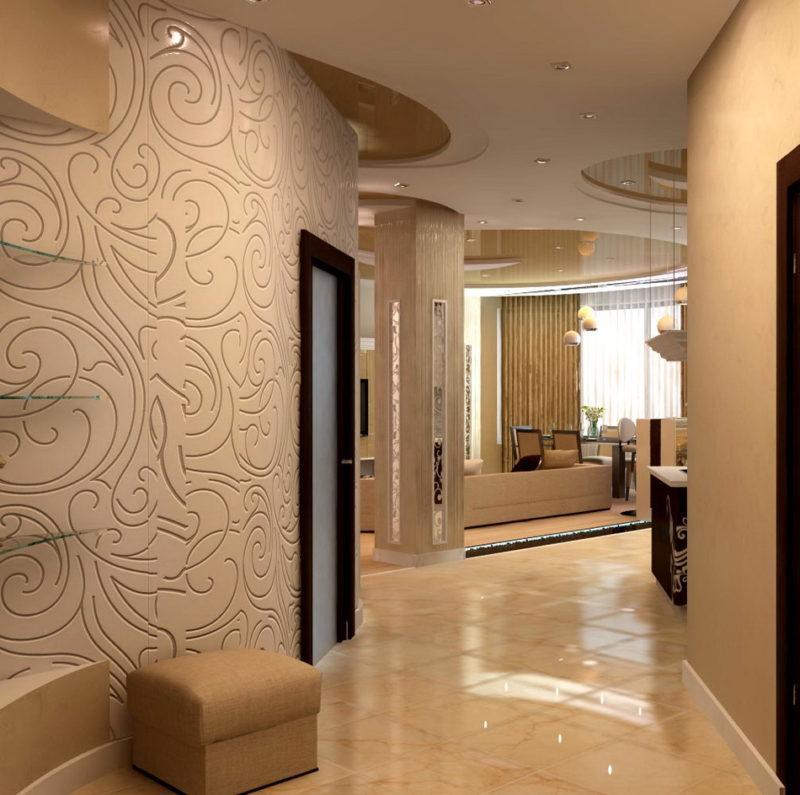 Как поштукатурить коридор в стиле графито