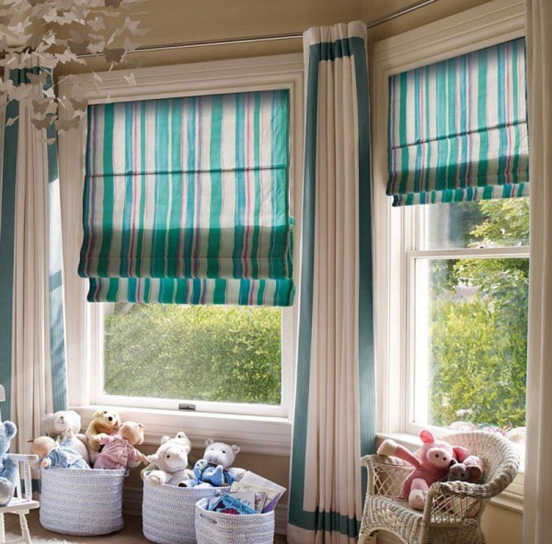 Как совместить обычные и римские шторы