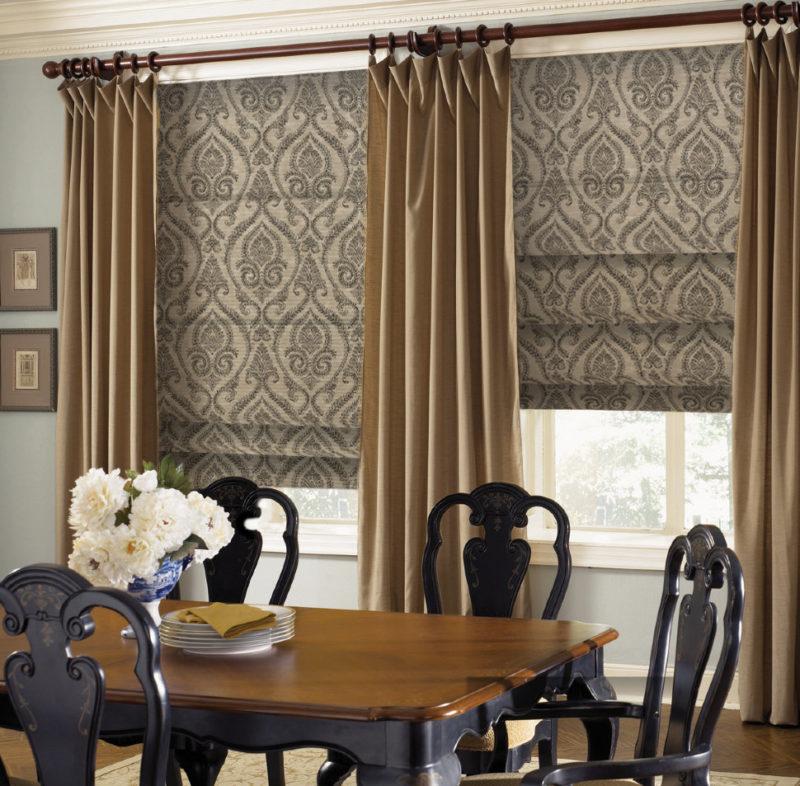 Римские шторы: ткани