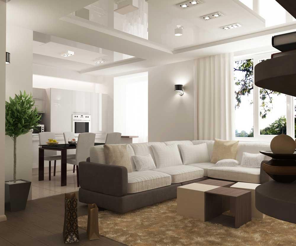 Дизайн гостиной и монтаж светильников