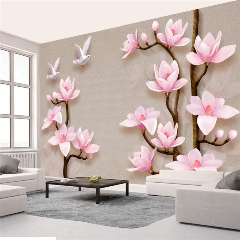Бумага для цветов на стену