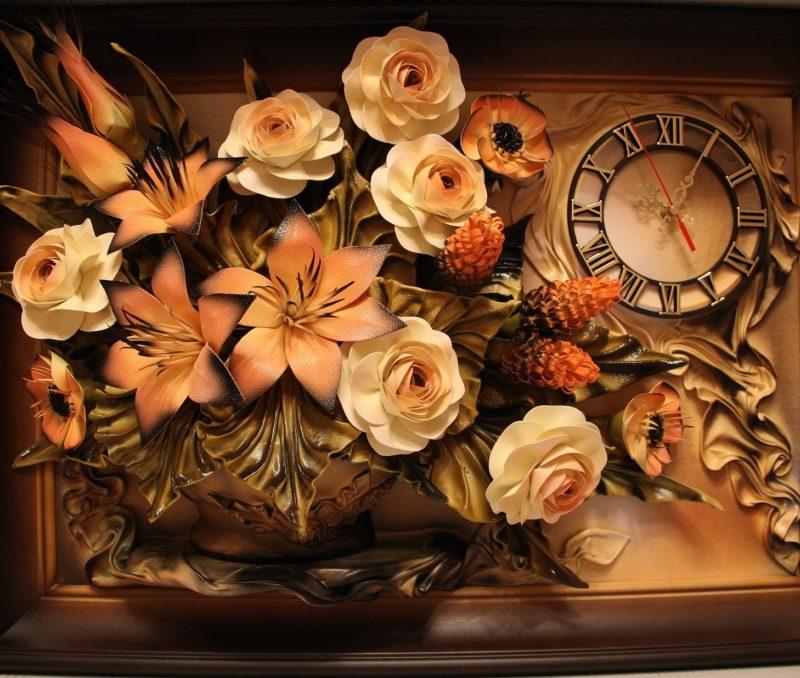 Декор интерьера: 3d картины из кожи