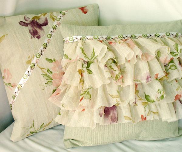 Делаем подушки из текстиля