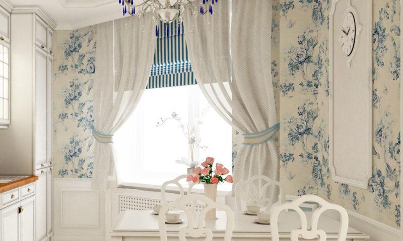 Модные шторы на кухню