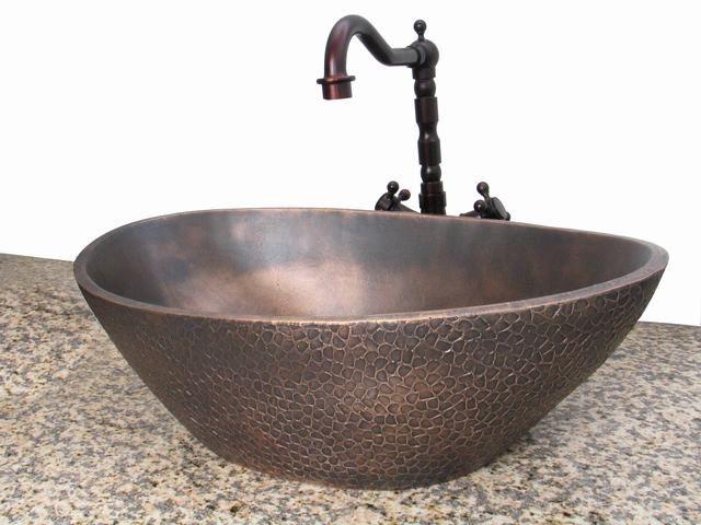 накладная раковина в ванную из металла