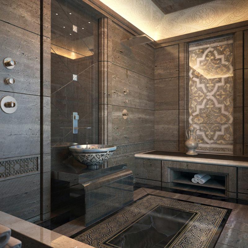 накладная раковина для ванной в восточном стиле