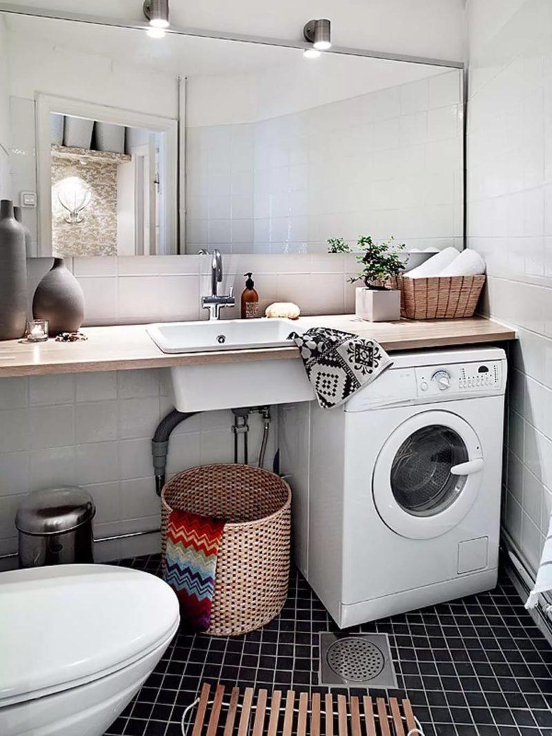 накладная раковина для ванной в скандинавском стиле