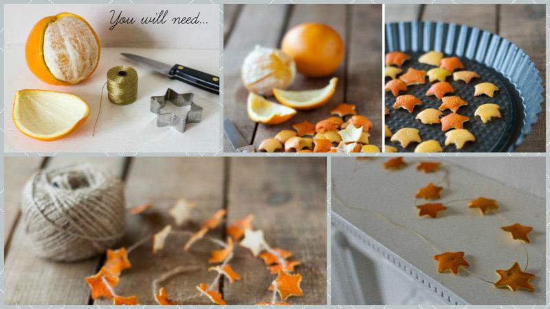 гирлянды из апельсиновой корки