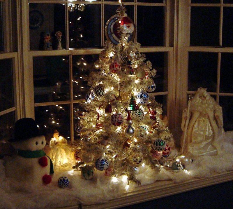 украшение окон и подоконников к новому году