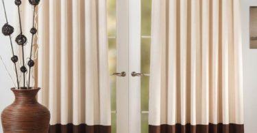 Декор окна: двухцветные шторы