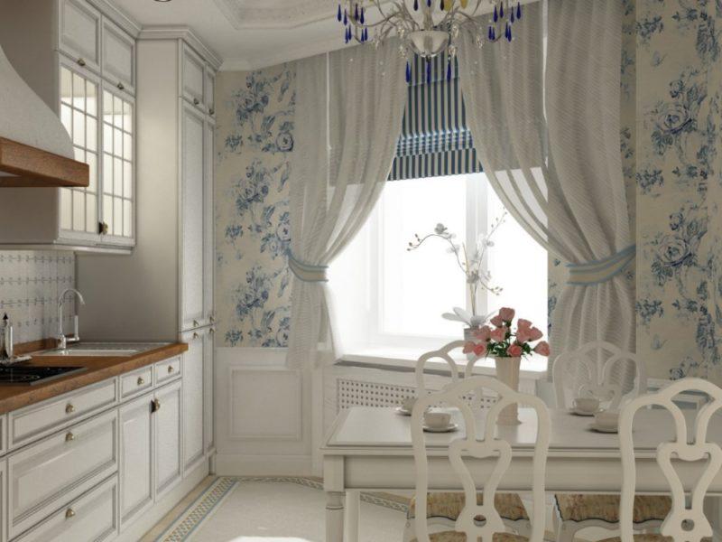 Интерьер в доме: шторы в стиле прованс