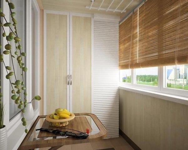 Современные балконы: выбор штор