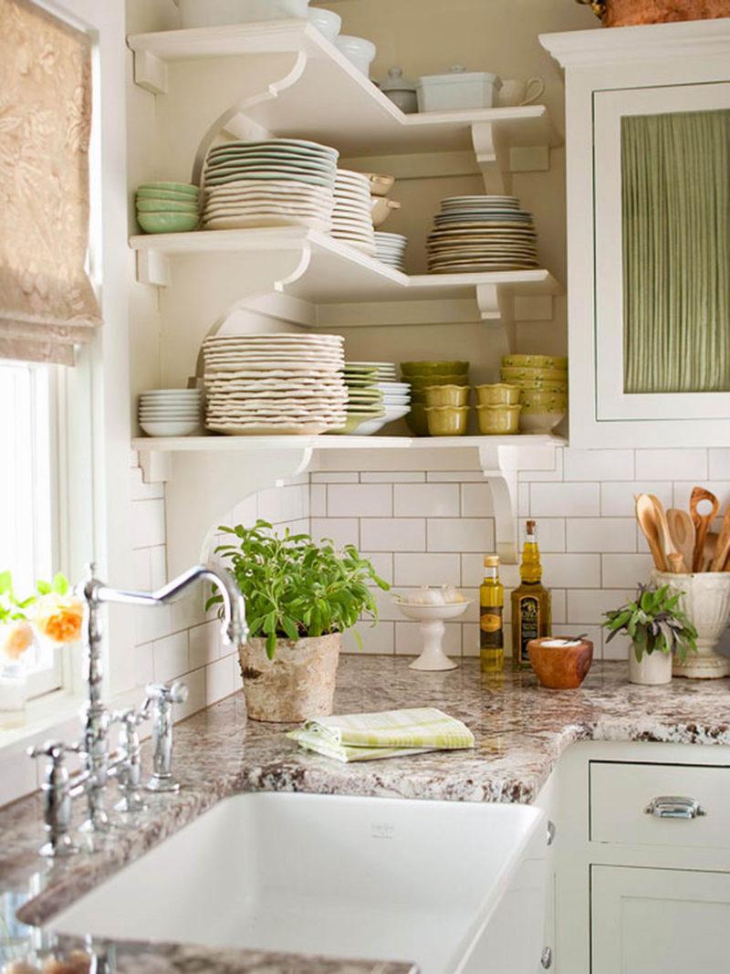 Кухонная мебель: полки в стиле кантри