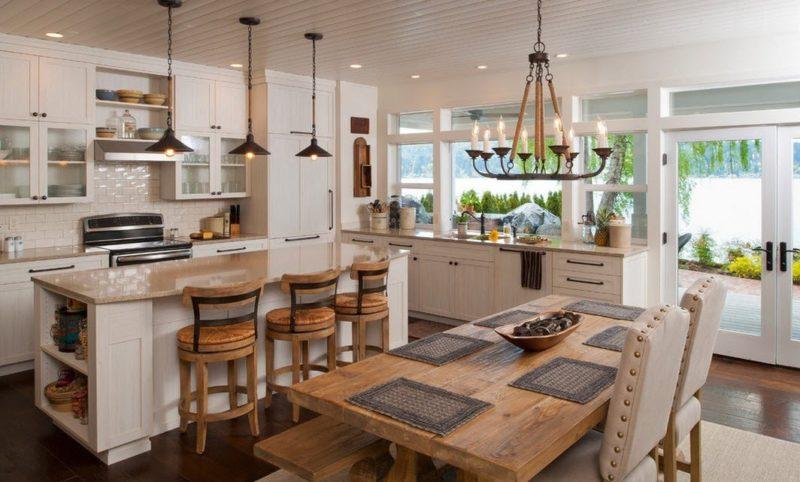 Дачная кухня и гостиная