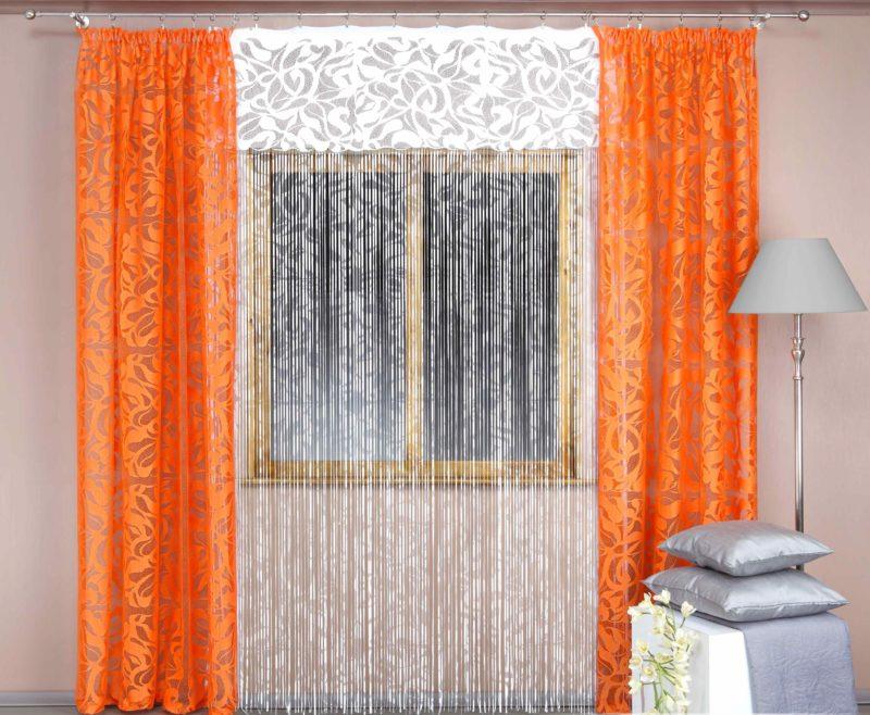Стили интерьера для нитяных штор