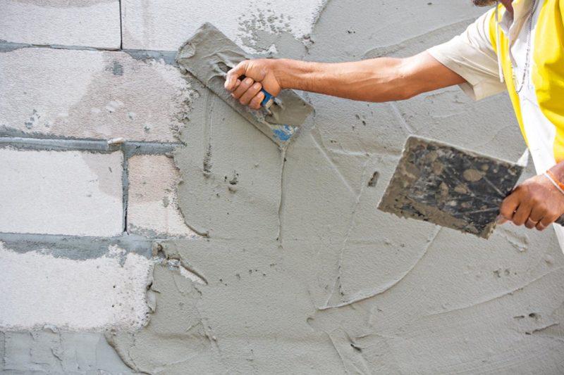 Штукатурка: цементно-песчаный раствор