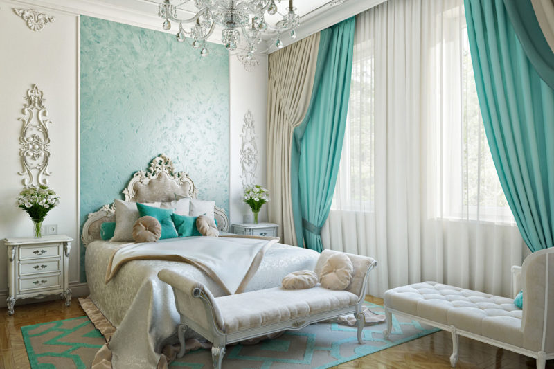 Как выбрать комбинированные шторы в спальню