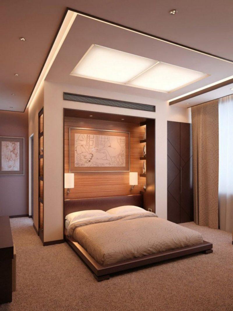 Как разместить спальню в нише
