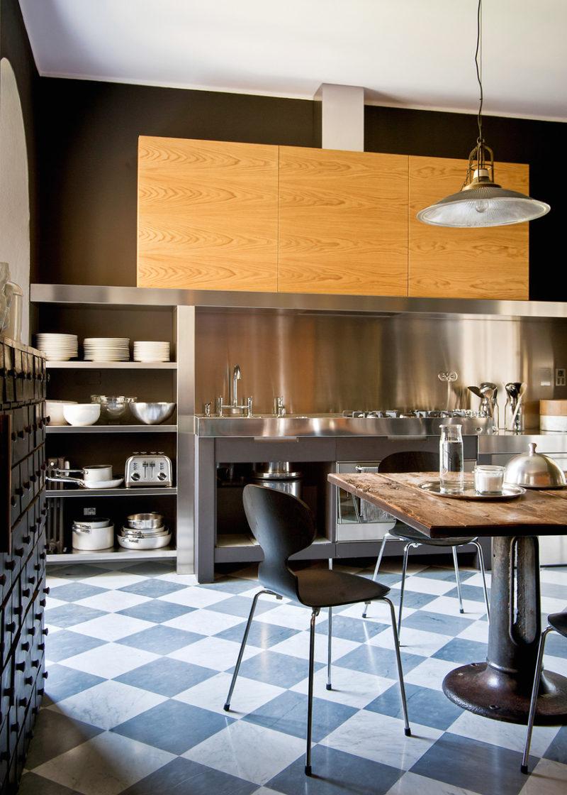 Интерьер в кухне: стиль лофт