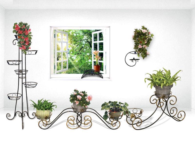 Полка для цветов для дачи и дома