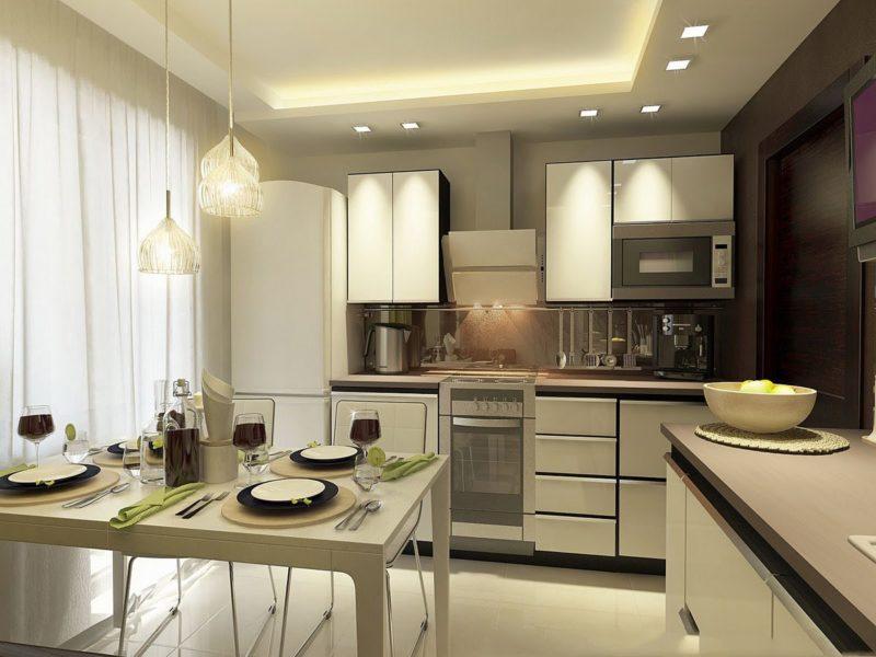 Как красиво расставить мебель на кухне