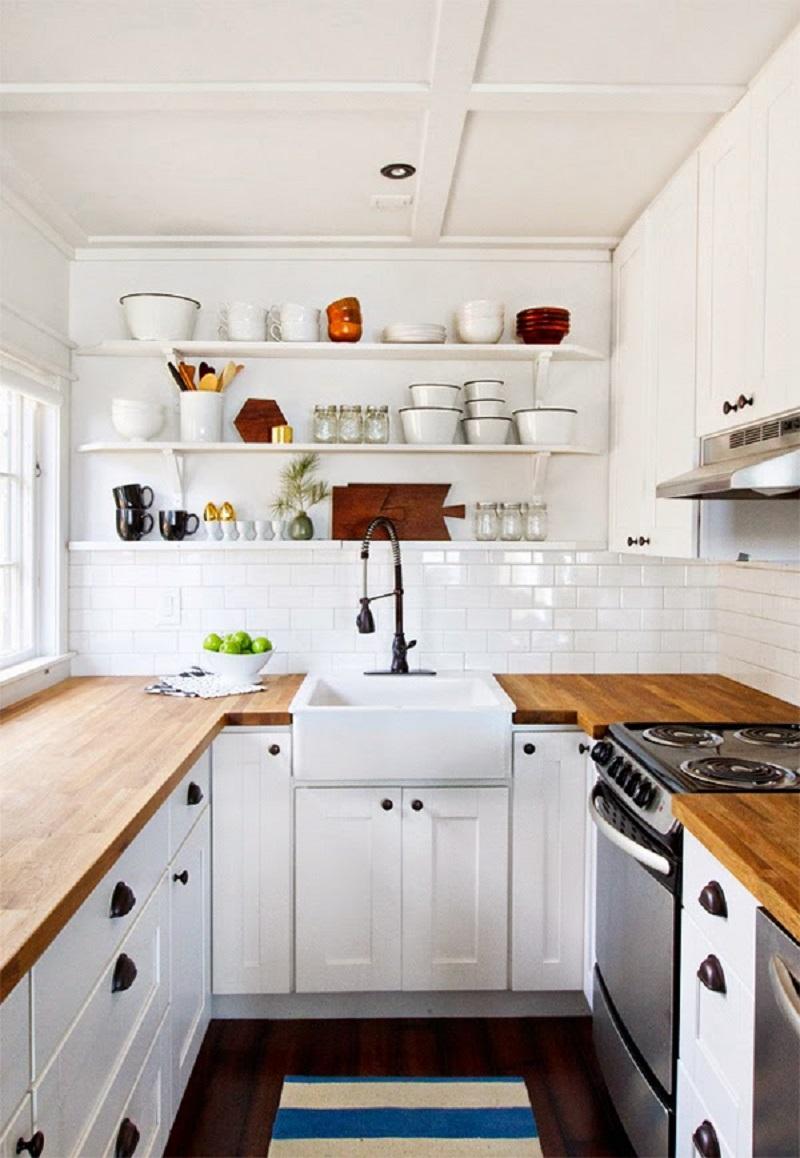 Кухня: как самостоятельно сделать и повесить деревянную полочку