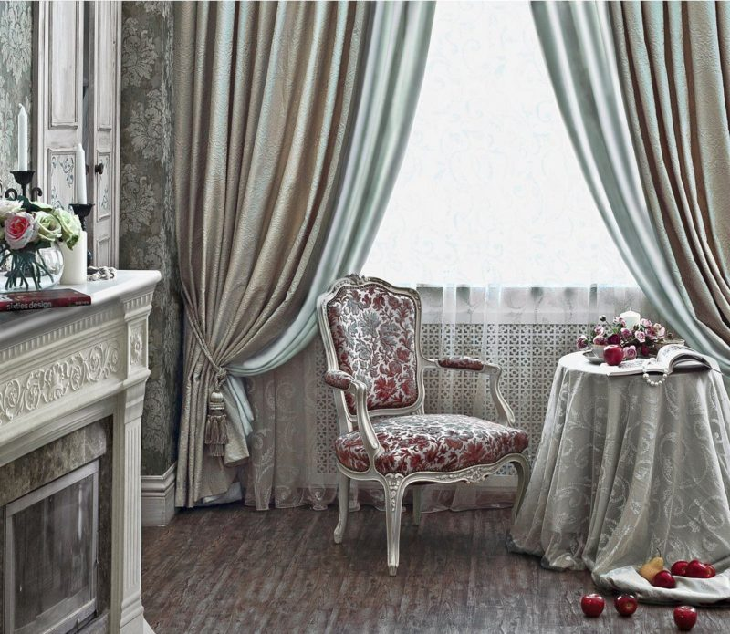 Двухцветные шторы: правила ухода