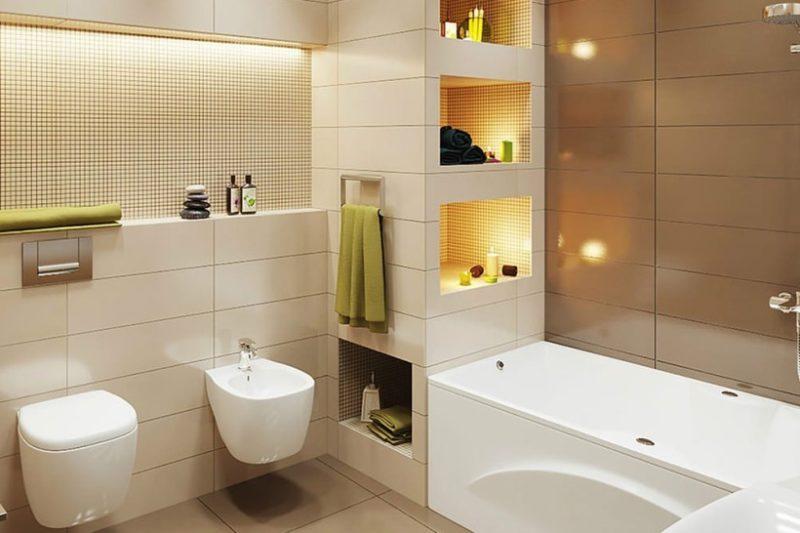 Современный пластик в оформлении ванной комнаты