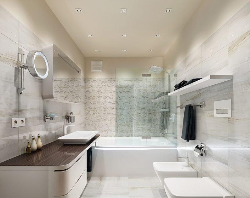 Как декорировать ванную при помощи стекла