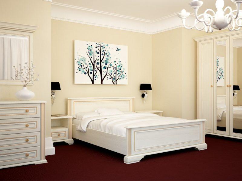 Ремонт в спальне: декор стены над кроватью