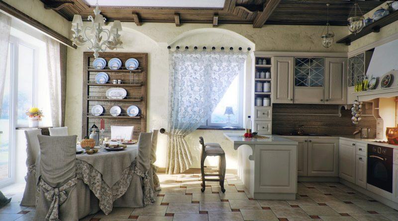 Декорирование кухни: шторы