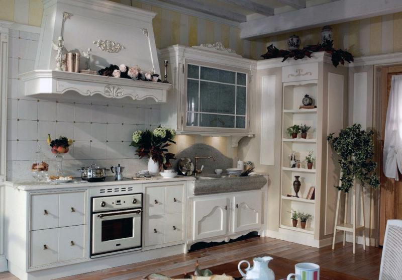 Кухня на даче: декор старыми вещами