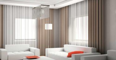 Как выбрать шторы в зал, с балконом