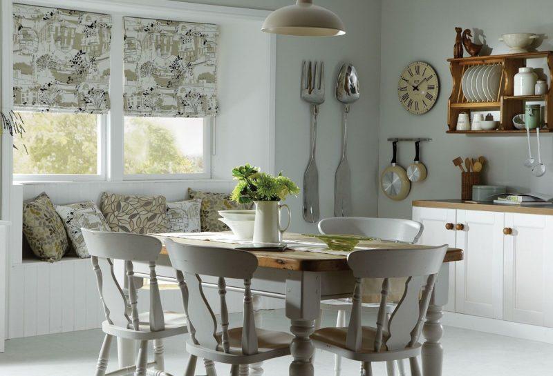 Слиль прованс: рекрая кухня и выбор штор