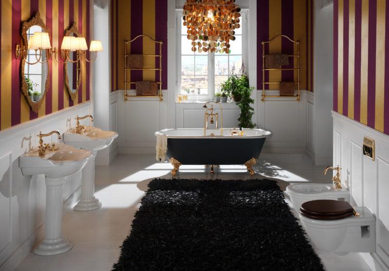 Оформление ванной при помощи зеркал