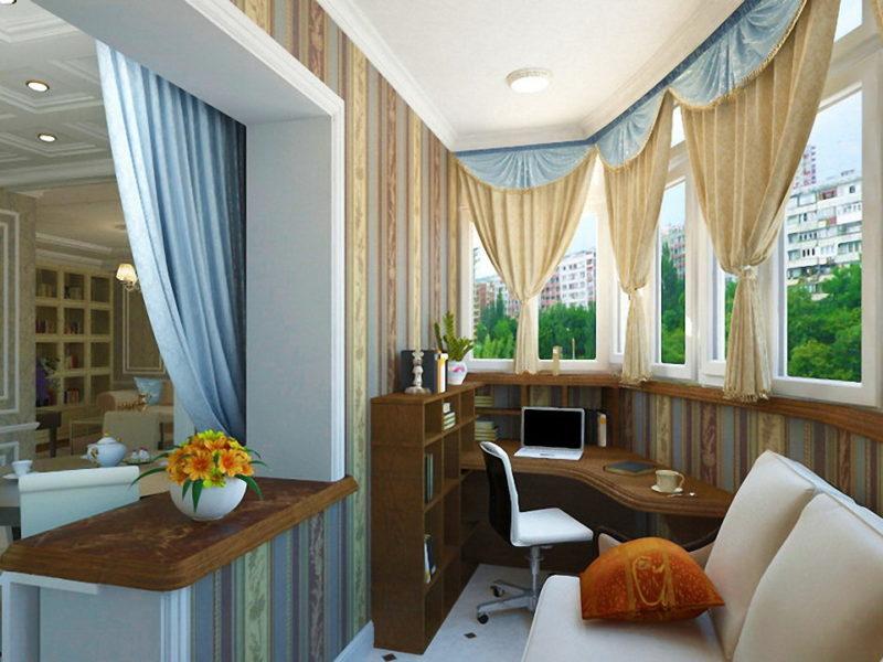 Варианты штор для балкона