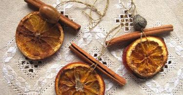 елочная игрушки из сушеных апельсинов