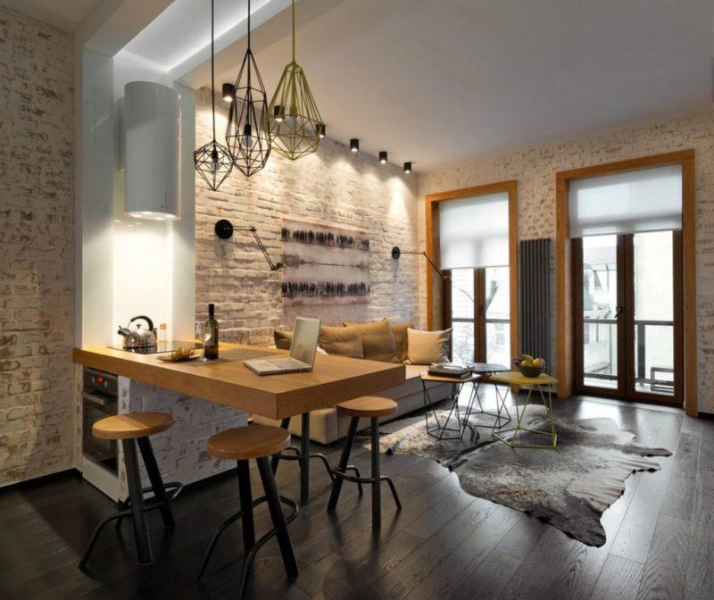 освещение квартиры в стиле лофт