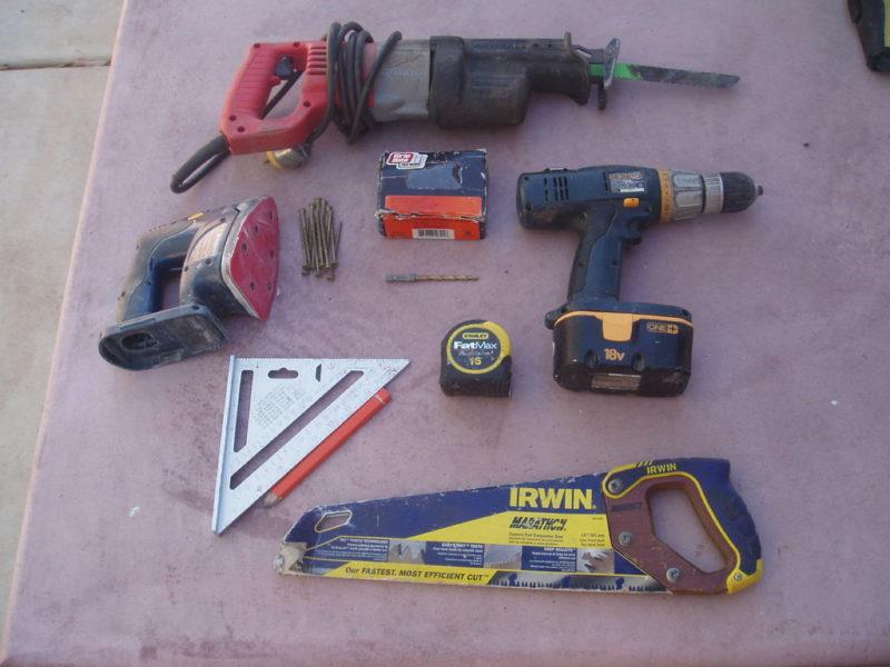 инструменты для изготовления садовой скамейки из поддонов
