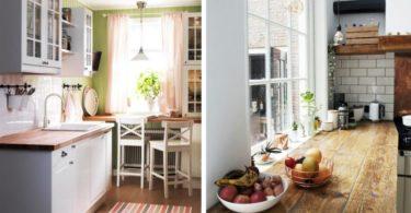 стол-подоконник для маленькой кухни
