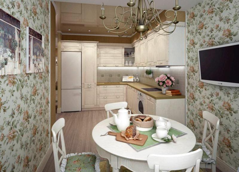 круглый стол для маленькой кухни