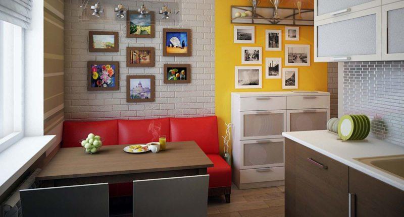 диванчик на маленькой кухне
