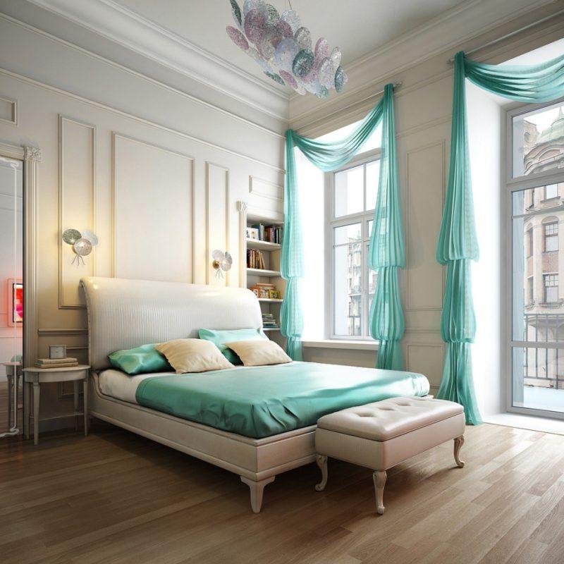 Современная тюль в спальне