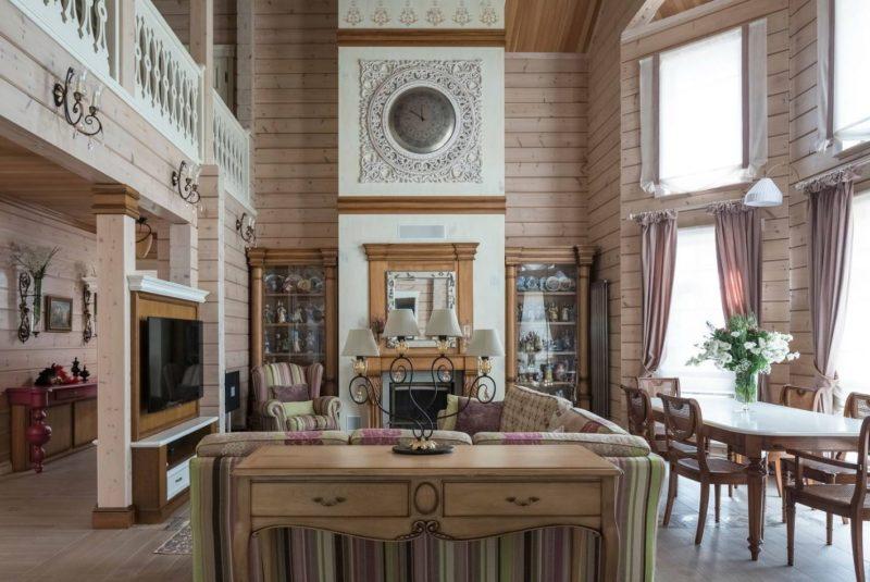 Правила выбора штор в деревянный дом